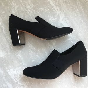 [Donald J. Pliner] Clem Crepe Black Heels